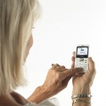 Mobile Phones for the Elderly - Lady Testing Big Button Handset
